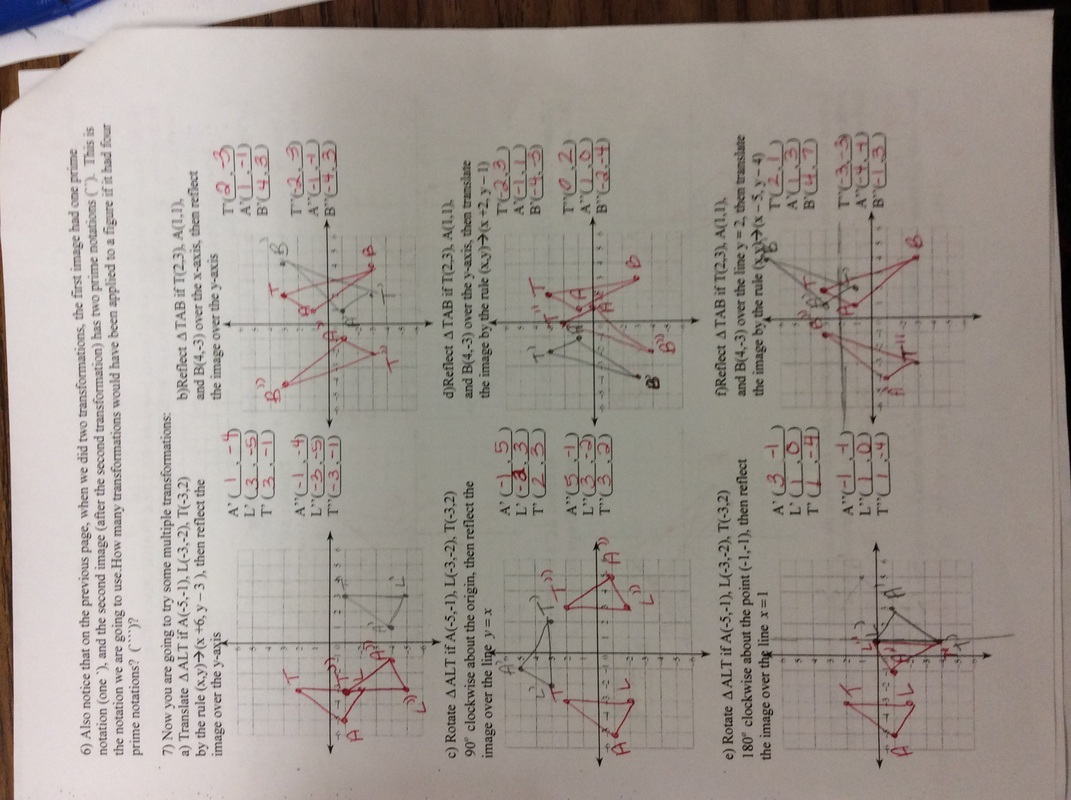 worksheet Dilations Worksheets common core math 8 with mrs hess picture